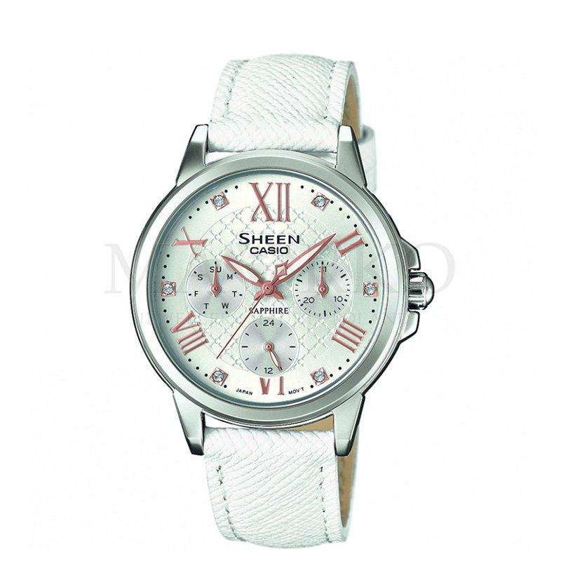 damski zegarek Casio Sheen na pasku